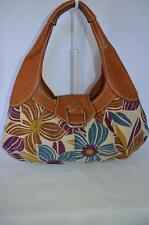 FOSSIL Floral Hobo  Retro Bag Fabric & Leather - PREOWNED & PERFECT