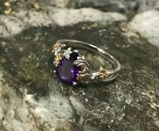 Welsh Clogau 18ct White & Rose Gold Great Vine Amethyst Ring £450 off! Size P