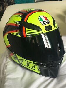 Agv sports bike helmet 46 Rossi helmet never used 2 visers