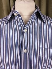 "Polo by Ralph Lauren Curham Blue White Striped Shirt 16.5"" C44"""