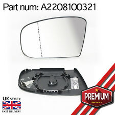 Heatable Wide Angle Mirror Glass Left Side + Base For Mercedes S Class W220