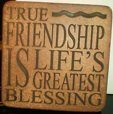 Latex Craft Moulds For True Friendship Coaster Art & Crafts Hobby