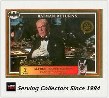 *1992 Australia Dynamic Batman Returns Movie EMBOSSED Gold No2 Alfred