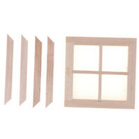 1:12 Dollhouse Miniature Wooden 4 Pane Window DIY Accessories Dz