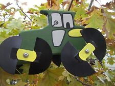 Green Tractor Mini Whirligigs Whirligig Windmill Yard Art Hand made from wood