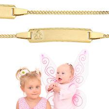 Engel Armband Gott schütze Dich Echt Gold 585 14 Kt Baby Taufe mit Namen Gravur