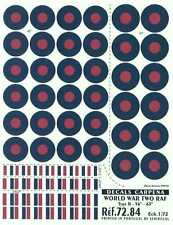 "Colorado Decals 1/72 R.A.F. TYPE B ROUNDELS 56""-63"""