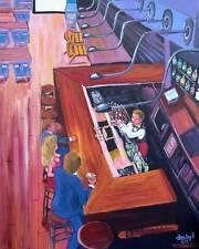 DIRTY MARTINI Bar Original Art Painting DAN BYL Modern Contemporary Large 4x5ft