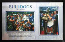 CANTERBURY BULLDOGS 1995 PREMIERS FRAMED POSTER PHOTO RUGBY LEAGUE MEMORABILIA
