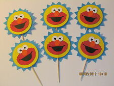 ELMO~SESAME STREET~CUPCAKE TOPPERS~001~Birthday Party Decorations~Cricut die cut