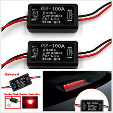 2pcs 12V GS-100A LED Brake Stop Light Strobe Flash Module Controller Box For Car