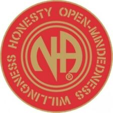 """Narcotics Anonymous Recovery Jacket, Lapel, Hat, Vest Pin, NA HOW 3/4"""" round R&G"""
