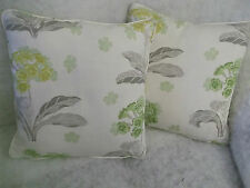 "ROSINA BY JANE CHURCHILL 1 PAIR OF 18"" CUSHION COVERS - DOUBLE SIDED & PIPED!"