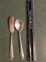 Holmes & Edwards Lovely Lady IS Plate Jelly Spoons & Butter Knife Serving