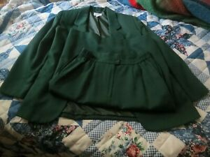 Napa Studio Petites Green Size 12 Jacket Blazer With Skirt Lined