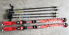 Youth Atomic Race 6 Skis Salomon C509 Size 140 Cm QA 314A | With 2 pairs of pole