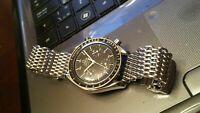 Original 19mm SHARK MESH watch bracelet (w/o remove links)fits Omega Seamaster