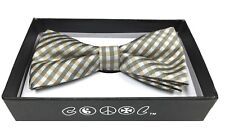 Ivory Stripe Men Women Bowtie Classic Clip-On Neck-wear Tuxedo Adjustable