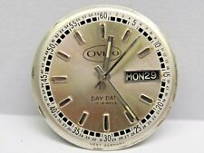Antique Gents Ovivo 2nd Hand Date/Day Watch Movement  17 Jewels