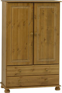 Steens Richmond Solid Pine Combi Kids Mini Wardrobe Metal Drawer Runners