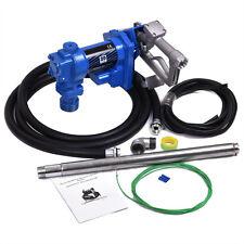 12V Dc Gasoline Fuel Transfer Pump 20Gpm For Gas Diesel Kerosene w/ Nozzle Kit