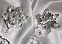 Snowflake cookie cutters, Christmas Tree, Ornaments, sugar cookie gift ideas
