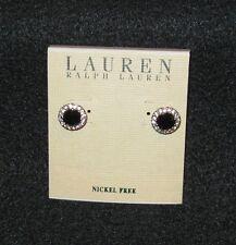 Lauren Ralph Lauren Silvertone Earrings NEW Nickel Free Butterfly Back