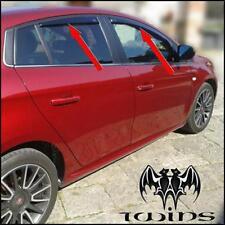 Set 4 Deflettori Aria Antiturbo Oscurati Fiat Bravo dal 2007