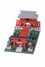 New Kawada NanoBlock Japanese Inari Shrine Jinja Nbh-108 530pcs Japan