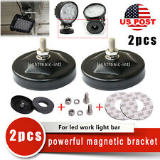 2x Powerful Bracket With Magnetic Base Offroad 4WD Truck SUV LED Work Light Bar
