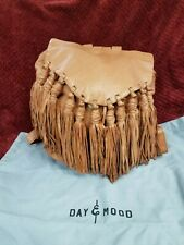 Day and Mood  genuine leather fringe Backpack   Pine camel NWT