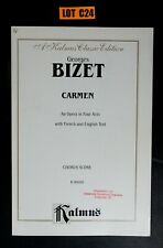 George Bizet Carmen Chorus Score French & English Kalmus Paperback Lot C24