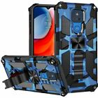for Motorola Moto G Play 2021 Case Tactical Ring Stand Armor Cover+ Prytool