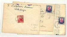 PP166 1931 Lithuania Cover x3 {samwells-covers}