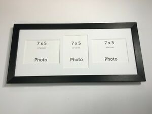 Multi App Photo Frame Black-Holds 3 x 7''X5'' Choose from 4 mount colours