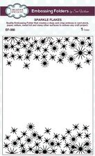 """Sue Wilson Embossing Folder 5 3/4 x7 1/2"""" SPARKLE FLAKES Creative Expressions"""