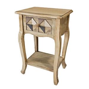 Casamoré Marrakesh Wooden 1 Drawer Side Table Bedside Unit