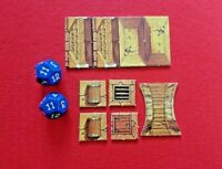 Advanced Heroquest 2 Dice & 9 Tiles MB Board Game Spares Bundle Hero Quest Lot