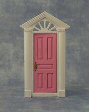 1:12 Échelle Rose Bois Peint Fairy Ouverture Porte Tumdee Poupées Maison 695A