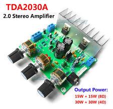 TDA2030A 30W+30W Hifi Stereo Audio Power Amplifier Board 15WX2 Treble / Bass Amp
