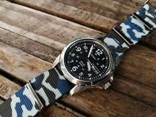 Mens Seiko Solar Powered Day Date Watch NEW NATO strap SNE095P2  - mn11