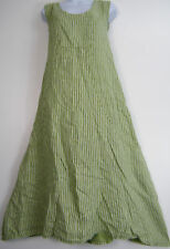 Plus Size Scoop Neck Sleeveless Striped Dresses for Women
