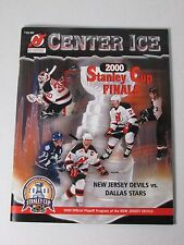 2000 NEW JERSEY DEVILS CENTER ICE OFFICIAL PLAYOFF PROGRAM OF THE STANLEY CUP