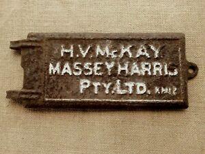 Vintage H. V. McKay Massey Harris cast iron door stove ?  implement boiler