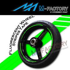 """Green Fluorescent Rim Wheel Stripe Stickers For 17"""" Kawasaki Ninja Buell S1 BMW"""