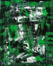 Modernist ABSTRACT PAINTING Expressionist MODERN ART CURRENCY WAR FOLTZ