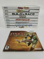 Lot Of 9 Nintendo Wii Games Complete w/ Manuals Some New Sealed Tested Working