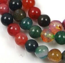 """6mm Colorful Agate Round Beads 14.5"""""""