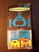 Strombecker Body Weights #9069  Improve the handling of your Strombecker cars!