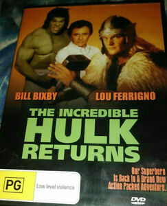 Incredible HULK Returns DVD 1988 Bill Bixby, Lou Ferrigno RARE MOVIE REG 4